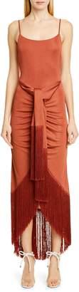 Cult Gaia Natalia Fringe Gown