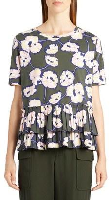 Women's Marni Whisper Print Cotton Jersey Tee $690 thestylecure.com