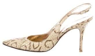 Dolce & Gabbana Snakeskin Slingback Pumps