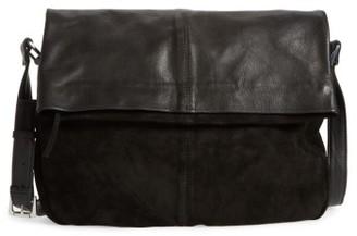 Topshop Sam Leather & Suede Shoulder Bag - Black $85 thestylecure.com
