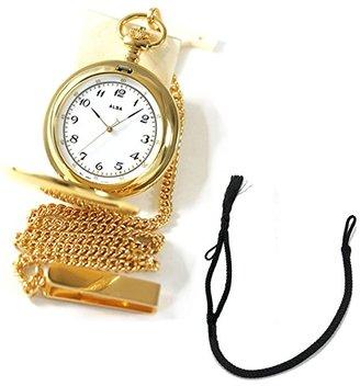 Alba (アルバ) - [セイコーアルバ] セイコー アルバ(SEIKO ALBA)懐中時計AABW146と懐中時計用紐 HB-2 房あり ブラックのセット