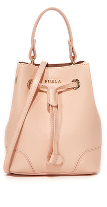 Furla Stacy Mini Drawstring Bag $278 thestylecure.com