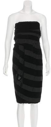 Lanvin Velvet Striped Dress