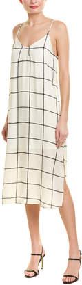 City Sleek Plaid Midi Dress