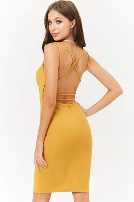 Forever 21 Strappy-Back Bodycon Dress