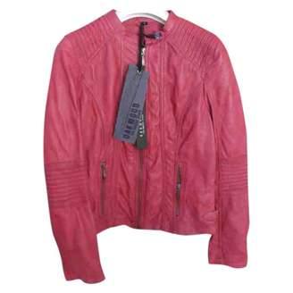 Oakwood Burgundy Leather Leather Jacket for Women