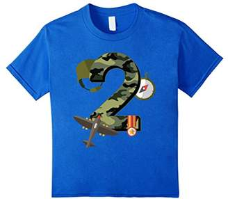 2nd Birthday Camouflage Hero Army Soldier T-shirt