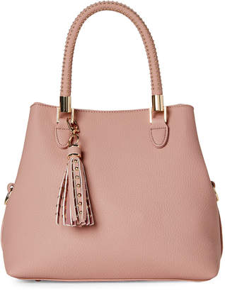 Urban Expressions Blush Sloan Studded Satchel