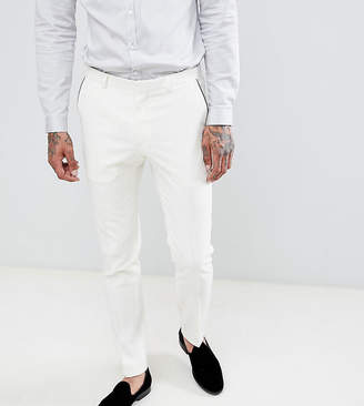 Heart & Dagger tuxedo skinny suit pants in satin