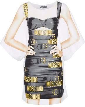 Moschino Oversized Printed Cotton-Blend Jersey Mini Dress