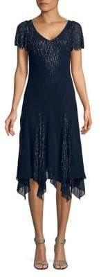 J Kara Beaded Handkerchief Dress