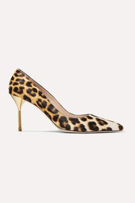 Miu Miu Leopard-print Calf Hair Pumps - Leopard print