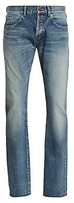Saint Laurent Men's Slim-Fit Raw Edge Jeans