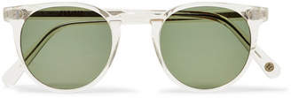 clear Cubitts - Herbrand Round-frame Acetate Sunglasses