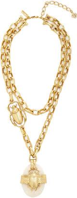 Oscar de la Renta Scarab Necklace