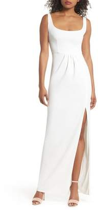 Katie May Rosie Open Back Scoop Neck Gown