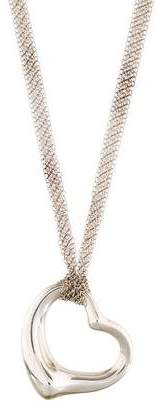 Tiffany & Co. Open Heart Long Pendant Necklace