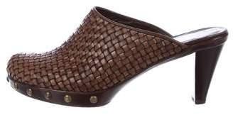 Stuart Weitzman Woven Leather Mules