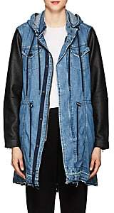 Blank NYC Blanknyc Women's High & Dry Denim & Faux-Leather Jacket - Blue Size S
