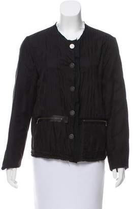 Lanvin Silk-Trimmed Collarless Jacket