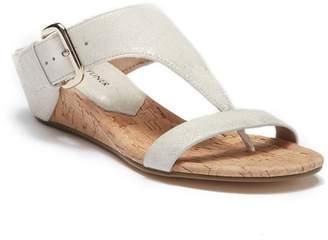 Donald J Pliner Doli Wedge T-Strap Suede Sandal