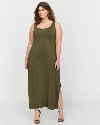 Addition Elle L&L Back Lace-Up Tank Maxi Dress