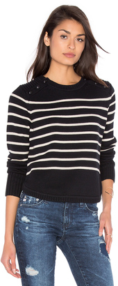 525 america Stripe Crew Neck Sweater $158 thestylecure.com