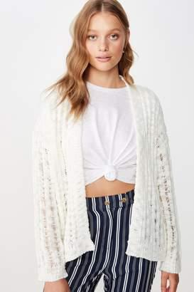 Cotton On Open Ladder Knit Cardi