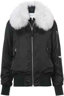 Derek Lam 10 Crosby fox fur collar bomber jacket