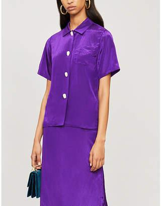 Mila Louise REJINA PYO short-sleeved satin shirt