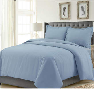 Tribeca Living Madrid Solid Oversized Twin Duvet Cover Set Bedding