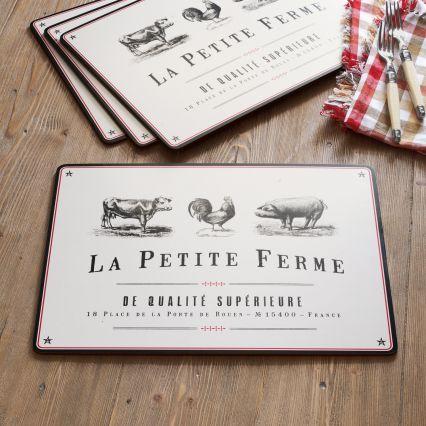 Sur La Table La Petite Ferme Placemat, Set of Four