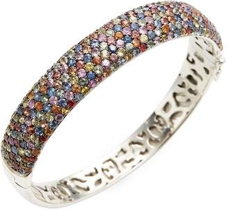 Effy Women's Sterling Silver Multi-Sapphire Bangle