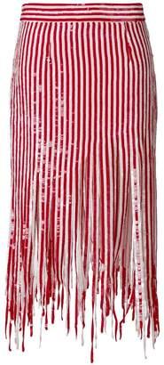 Monse mid-length fringed skirt