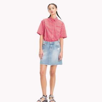 Tommy Hilfiger Distressed Jean Skirt