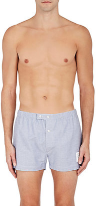 Thom Browne Men's Cotton Oxford Cloth Boxers $200 thestylecure.com