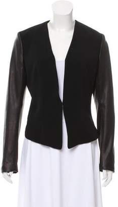 Rag & Bone Leather-Accented Structured Blazer