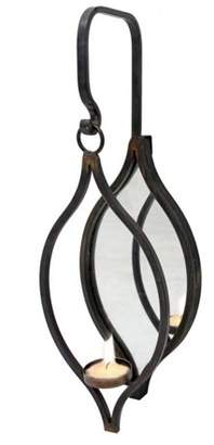 Foreside Home and Garden Tealight Mirror Hanging Holder