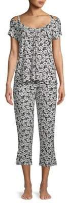 Catherine Malandrino Two-Piece Capri Pajama Set
