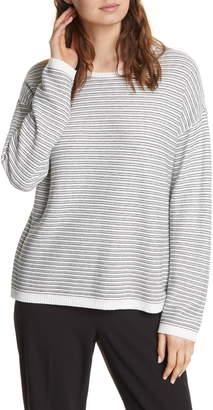 Eileen Fisher Crewneck Organic Cotton Blend Sweater