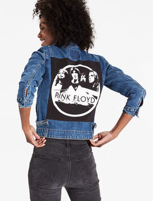 Lucky Brand Reworked Pink Floyd Denim Jacket