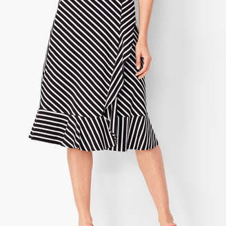 Talbots Jersey Cascading Midi Skirt - Stripe