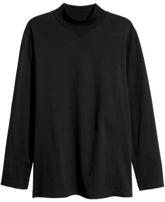 H&M Jersey Turtleneck Shirt - Black