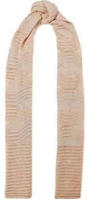 M Missoni Metallic Crochet-Knit Scarf
