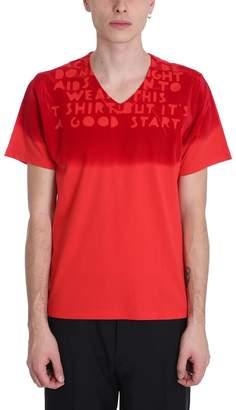 Maison Margiela Red Cotton Aids T-shirt