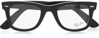 Ray-Ban - The Wayfarer Acetate Optical Glasses - Black $170 thestylecure.com