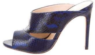 Alexandre Birman Python High Heel Mules