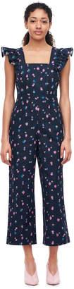 Farren Flower Linen Jumpsuit
