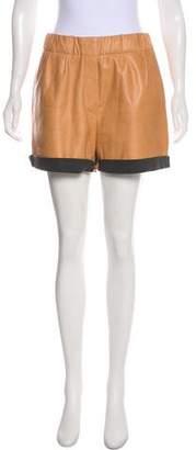 Brunello Cucinelli Leather Mini Shorts