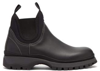 Prada Leather Chelsea Boots - Womens - Black